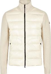 Off White Wool And Shell Jacket