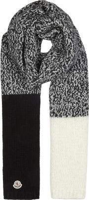 Panelled Knitted Scarf