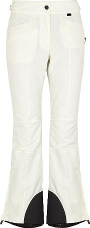 Technical Off White Nylon Trousers