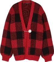 Blake Checked Chunky Knit Cardigan