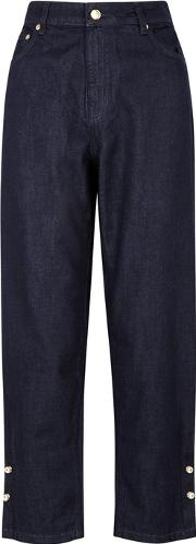 Indigo High Rise Relaxed Jeans