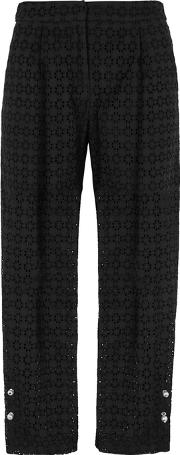 Jewell Cropped Broderie Anglaise Trousers