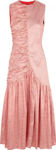 Pauletta Ruched Gingham Dress Size 10