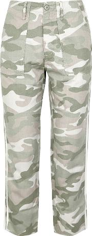 Shaker Camouflage Cotton Blend Trousers