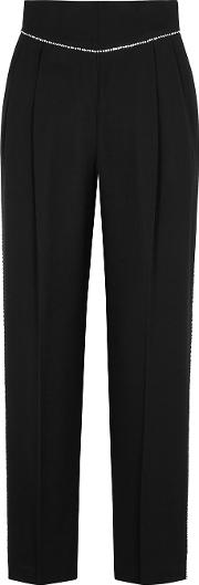 Crystal Embellished Straight Leg Trousers