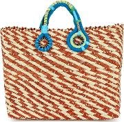 Belle Woven Straw Tote