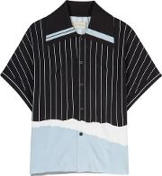Tsuno Striped Knitted Polo Shirt