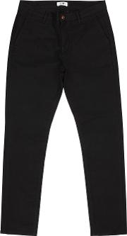 Black Slim Leg Stretch Cotton Chinos