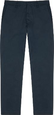 Theo Navy Straight Leg Twill Chinos