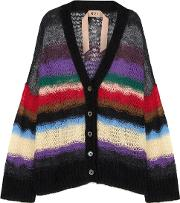 Maglia Open Knit Mohair Blend Cardigan