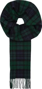 X Johnstons Checked Wool Scarf
