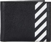 Off White Diag Black Leather Wallet