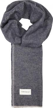Rover Navy Cotton Twill Scarf