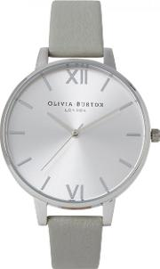 Big Dial Silver Plated Watch
