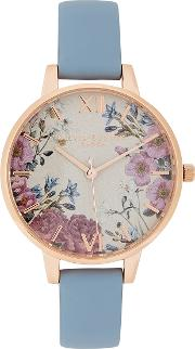 British Blooms Rose Gold Plated Watch