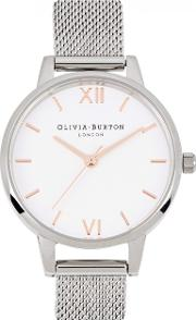 Midi Dial Silver Plated Watch