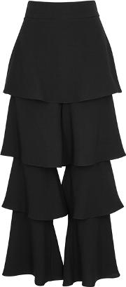 Felix Black Tiered Trousers