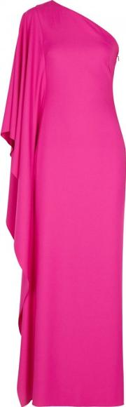 Oleander Fuchsia One Shoulder Gown Size 12