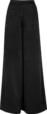 Pandora Brushed Satin Wide Leg Trousers