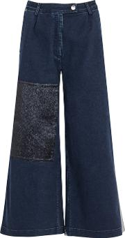 Tavi Patchwork Denim Culottes