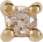 9kt Gold Diamond Stud Earring