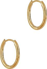 Oval 14kt Gold Vermeil Hoop Earrings