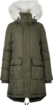 Grace Army Green Fur Trimmed Parka