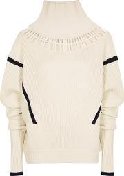 Palmerharding Lateral Off White Wool Blend Jumper
