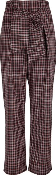 Germini Checked Wool Blend Trousers