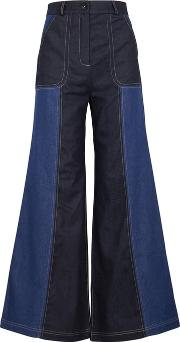 Hello Panelled Wide Leg Jeans