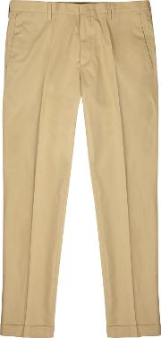 Camel Cotton Chinos