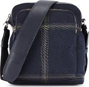 Navy Check Cross Body Bag