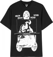 Straight Synth Printed Cotton T Shirt