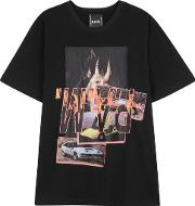 Witch Car Printed Cotton T Shirt