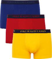 Multicoloured Stretch Cotton Boxer Briefs Set Of Three