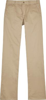 Sand Tapered Cotton Chinos
