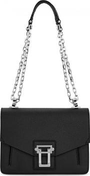 Hava Black Leather Shoulder Bag