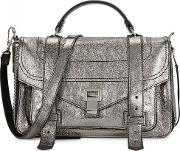 Ps1 Medium Silver Leather Satchel