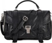 Ps1 Medium Zip Embellished Leather Satchel