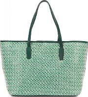 Small Green Raffia Tote