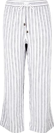 Agnes Cropped Striped Trousers
