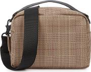 Taupe Coated Cross Body Bag