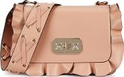 Rock Ruffles Blush Leather Shoulder Bag