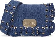 Rock Ruffles Denim Shoulder Bag