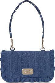Rock Ruffles Large Denim Shoulder Bag