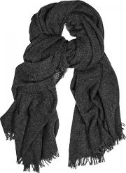 Anthracite Wool Blend Scarf