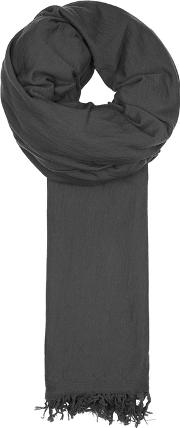 Charcoal Wool Jersey Scarf