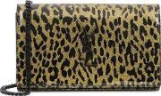 Kate Glittered Leopard Print Wallet On Chain
