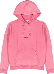 Pink Logo Hooded Cotton Sweatshirt