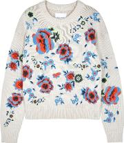 Acer Embroidered Chunky Knit Jumper